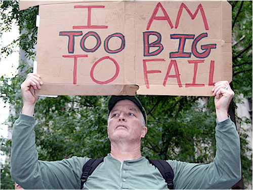 Occupy Vancouver Too Big To Fail Sign